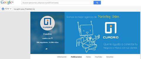 Google plus Cuadrio