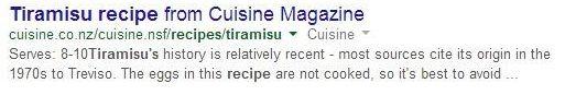 receta sin schema para serp